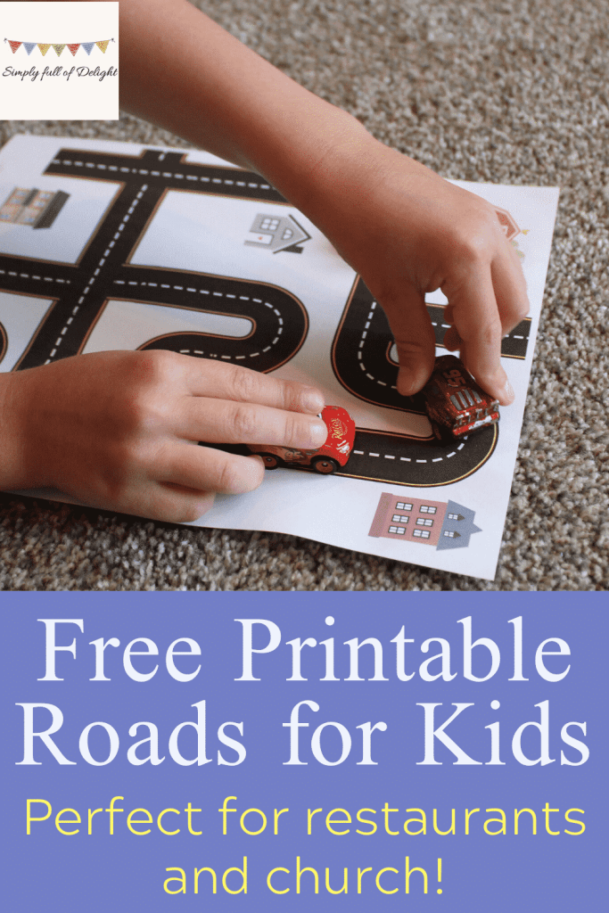 Free Printable Roads for kids - Perfect for Restaurants and church