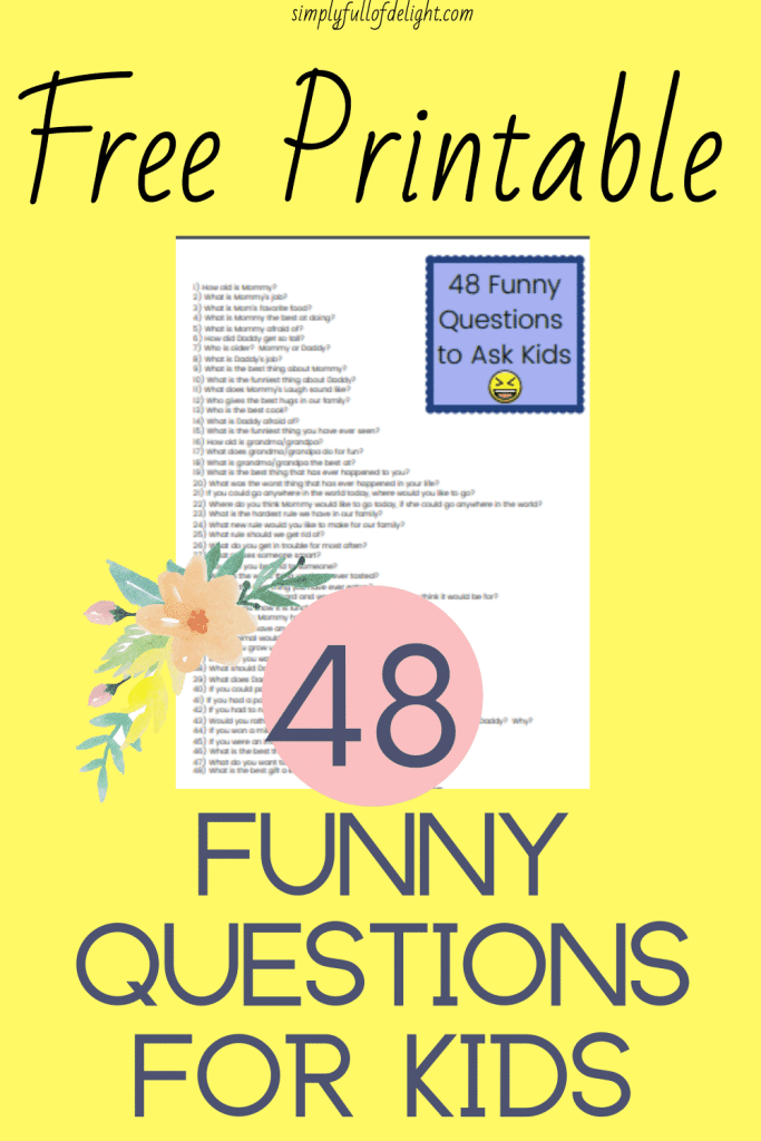 48 Funny Questions for Kids