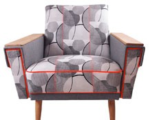 THE SANTIAGO ARMCHAIR IN POP CIRCLES – GALAPAGOS DESIGNS