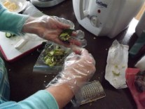 Step 3: Remove seeds from jalapenos. I used a grapefruit spoon.