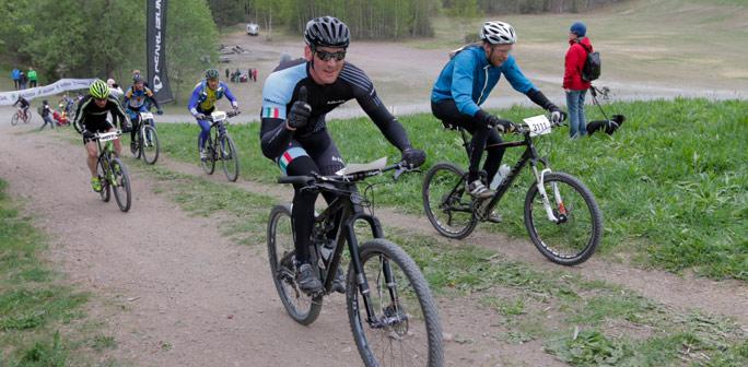 Bild på cyklist