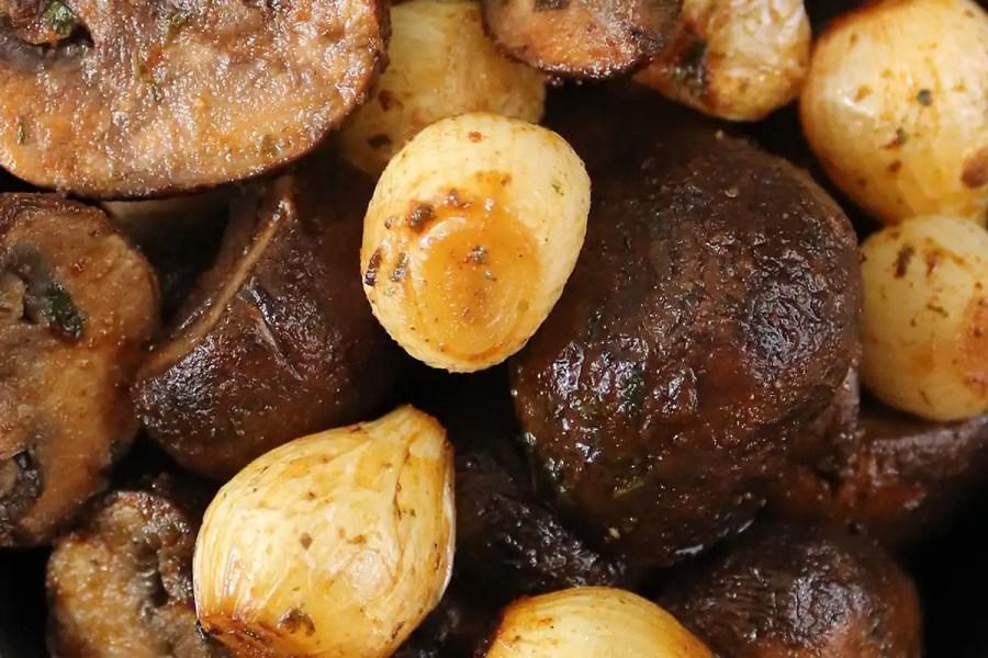 Air Fryer Mushrooms & Onions