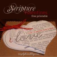 Scripture Valentines (Free Printable)