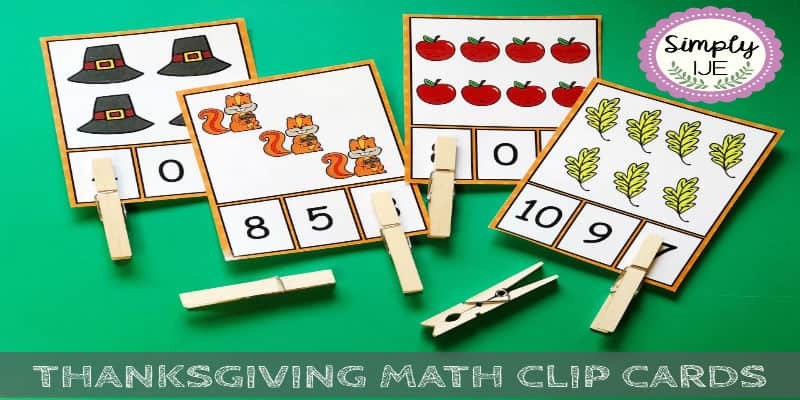 Thanksgiving Math Clip Cards | TPT Freebie