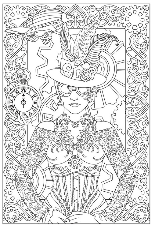 Free Steampunk Coloring Pages – Simply Inspired