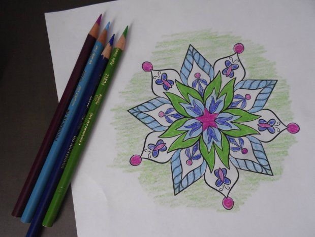 springtime color mandala