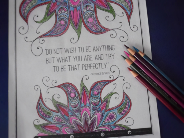 The Free Adult Coloring Book From Togetherness Project Is One I Keep Coming Back To Again And Love Inspirational Quotes Designs Are