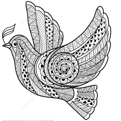 50 free zentangle coloring pages for adults - Zentangle Coloring Book
