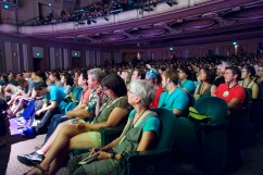 Audience at the Arlene Schnitzer Hall listening to keynote speakers