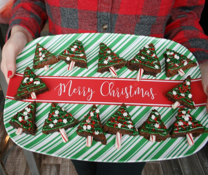 Christmas Tree Brownies | Simply J and K