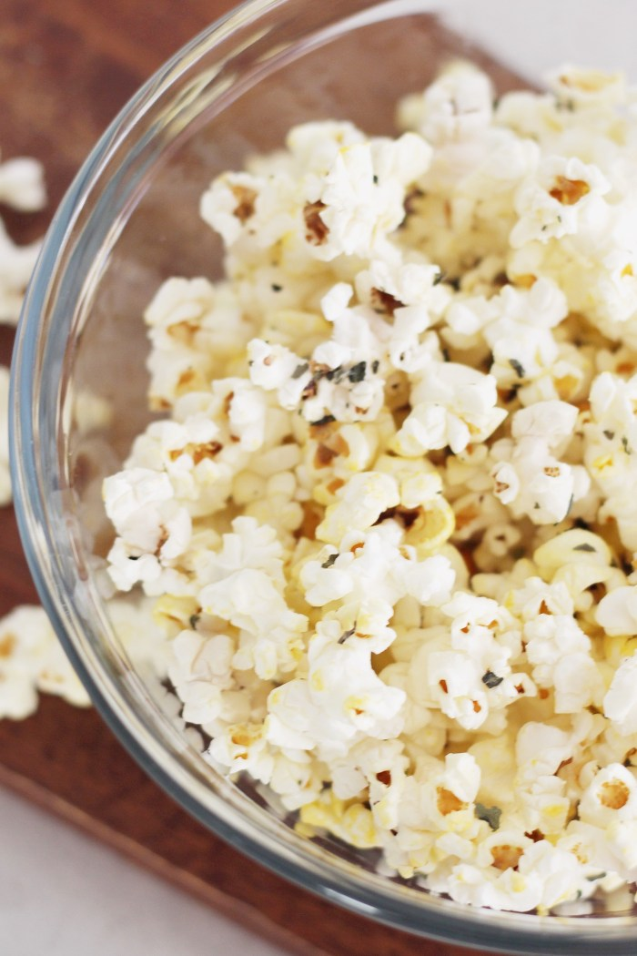 Bachelor Night Snacks: Italian Seasoned Popcorn