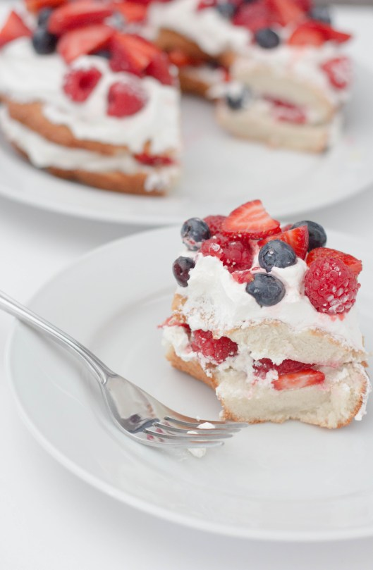 Fourth of July Light Angel Food Cake