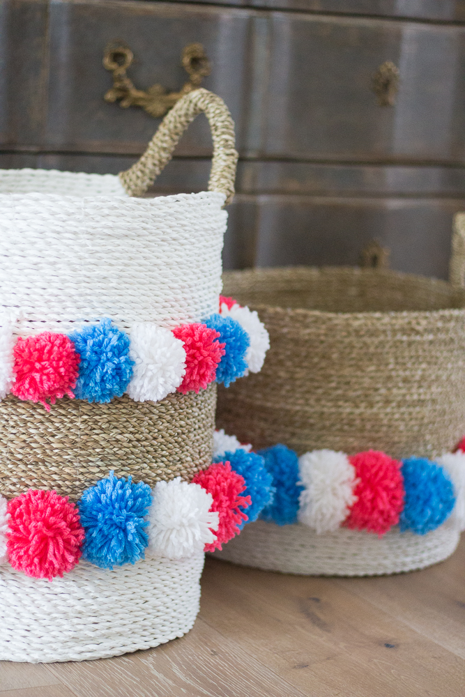 Easy DIY Pom Pom Basket