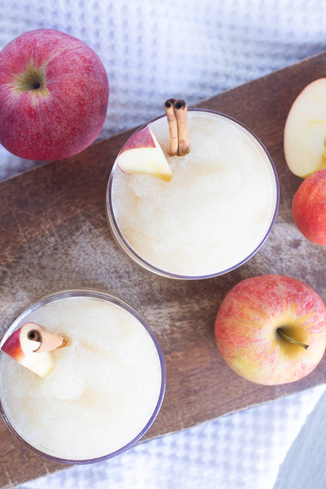 Apple Cider Whiskey Slushie