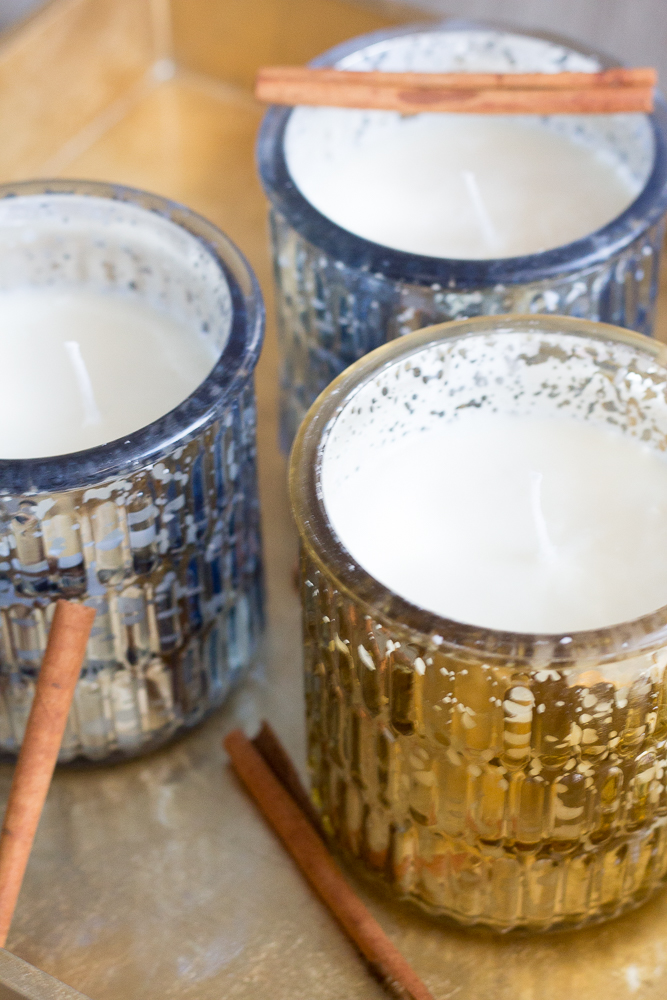 DIY Cinnamon Scented Candles