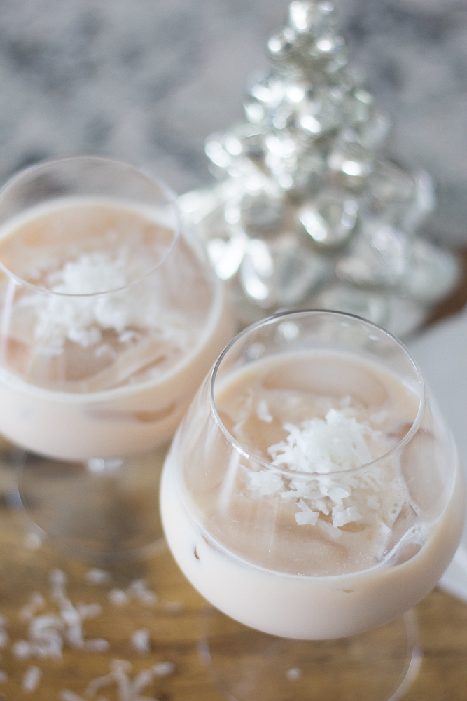 Snow Covered White Russian Cocktail