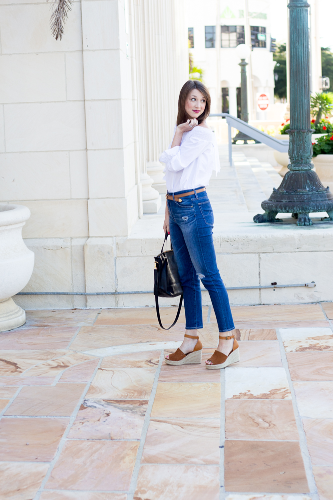 Feminine, Flirty Off the Shoulder Tops for Under $100