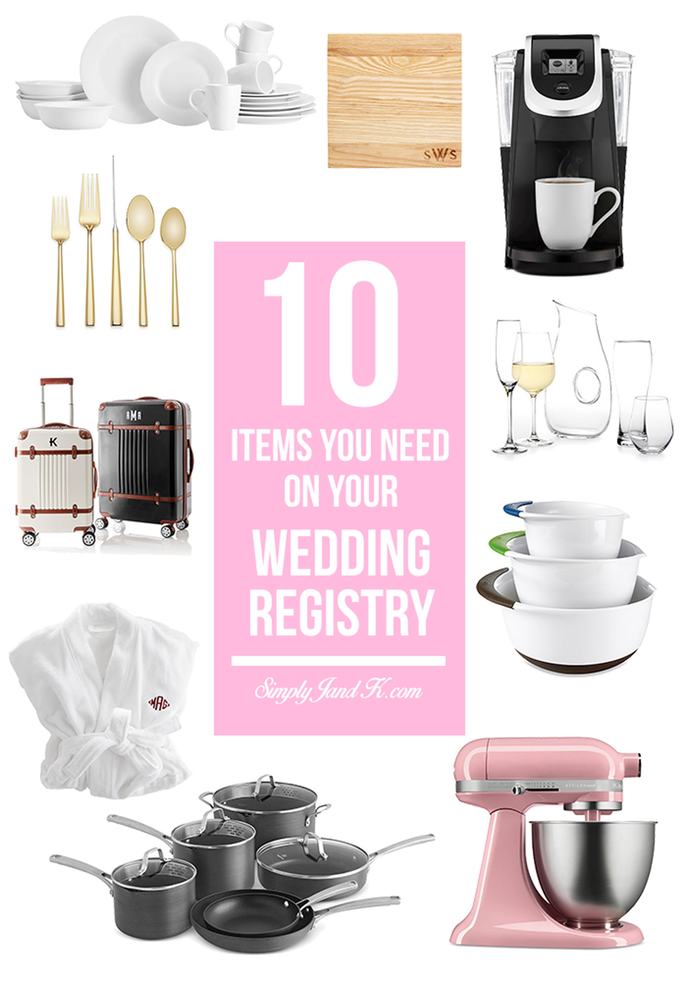 10 Must-Have Items for Your Wedding Registry