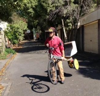 Garage sale hawker meets tilting trike inventor - Simply Joolz