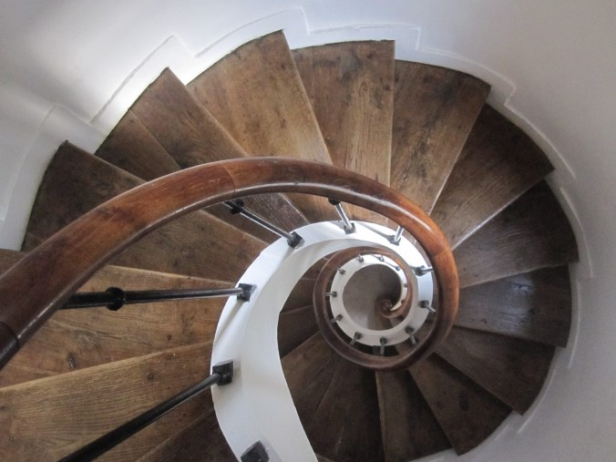 Spiral Stairway up to the guest rooms of the Franciscan convent