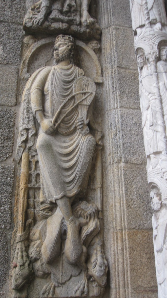 King David by Master Esteban(13th century),Part of the Romanesque doorway on the south side.