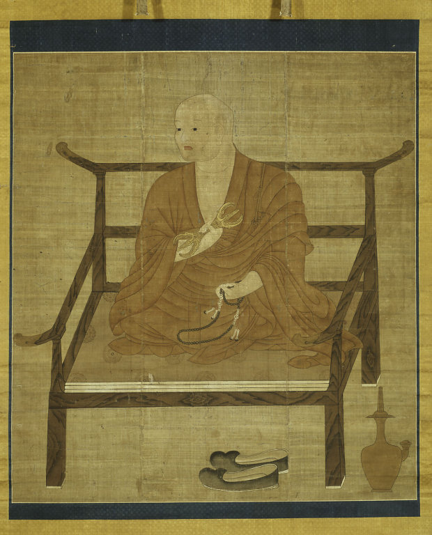 Self portrait of Kukai, known also as Kobo Daishi, 8th century