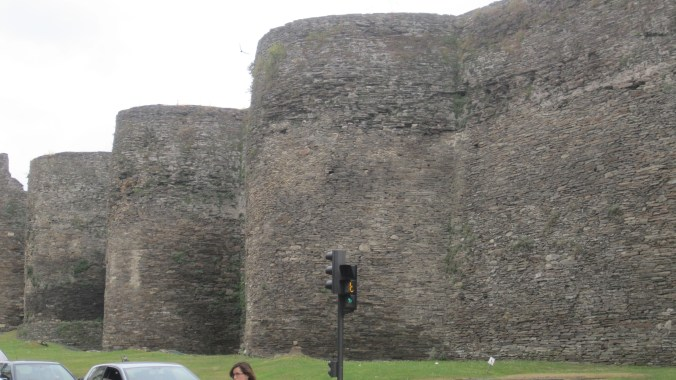 Roman City wall, (1.3 miles long, up to 39 ft. high and 21 ft. thick)