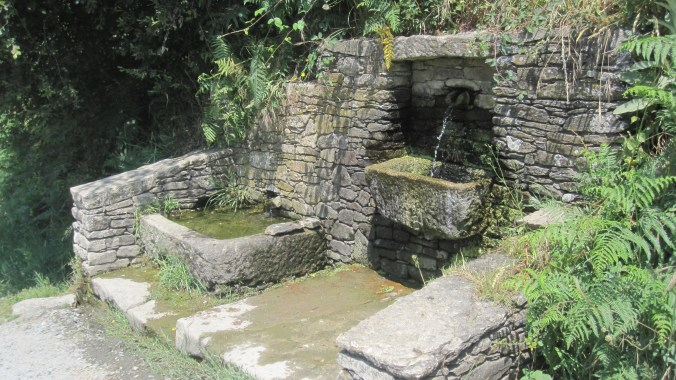 One of many fountains with fresh drinking water