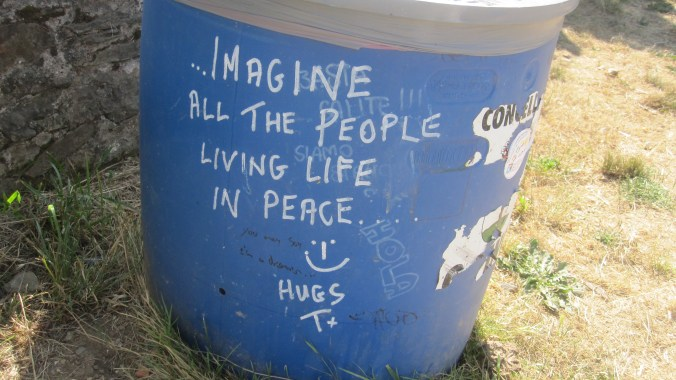 One of many messages on the Camino