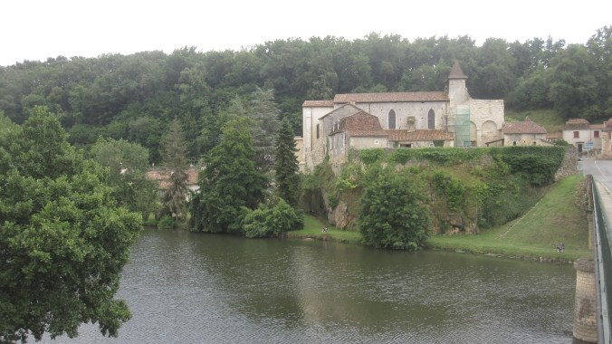 View of the village Sourzac from the town Saint-Luis–en-I'sle