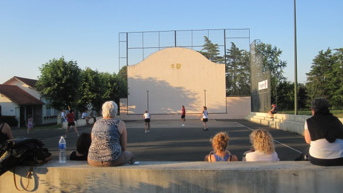 The high wall called Fronton where the Basque ball game Pelota is played