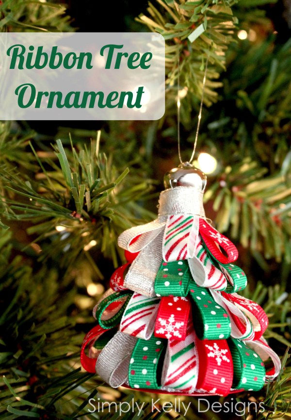 Diy ribbon tree ornament for Michaels christmas tree ornaments
