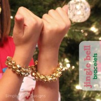 Easy Last Minute Jingle Bell Bracelets
