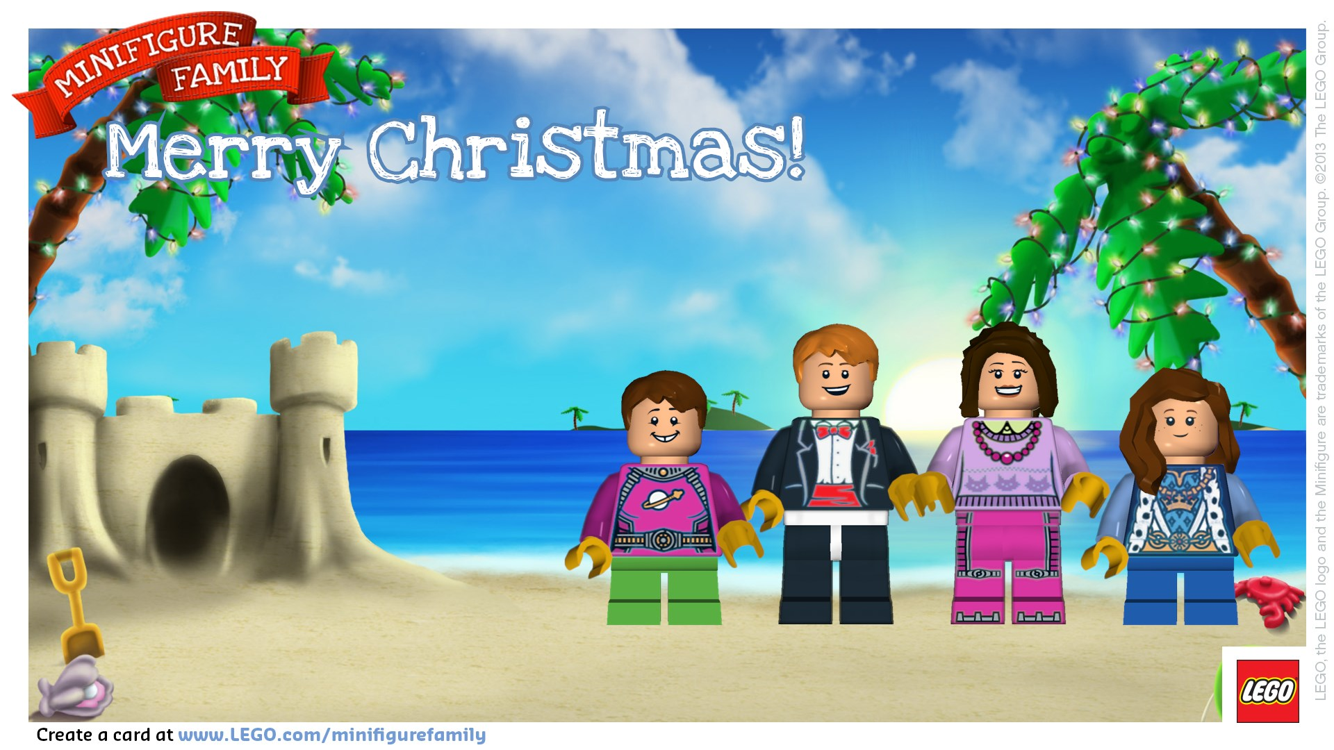 LEGO Minifigure Family Card