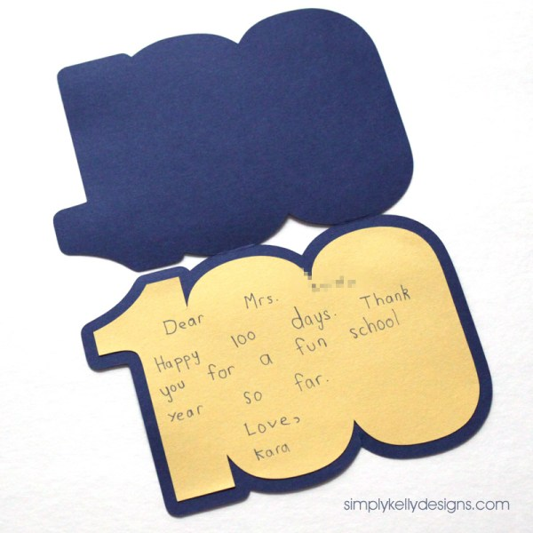 100 card perfect for the 100th day of school or a 100th birthday | by Simply Kelly Designs