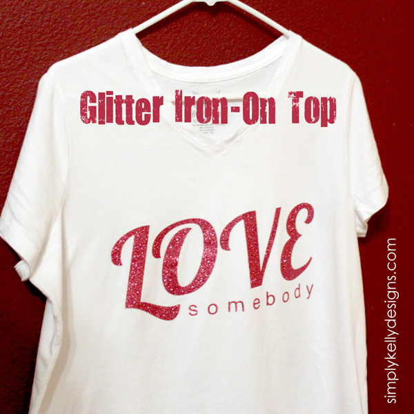 Glitter Iron-On Top by Simply Kelly Designs