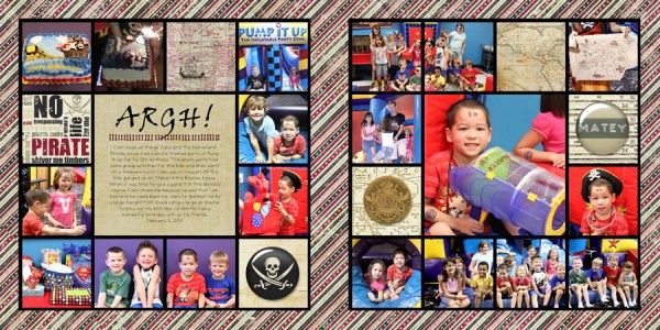 Pirate Themed Birthday Party Layout by Simply Kelly Designs