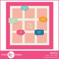Hello Template by Simply Kelly Designs