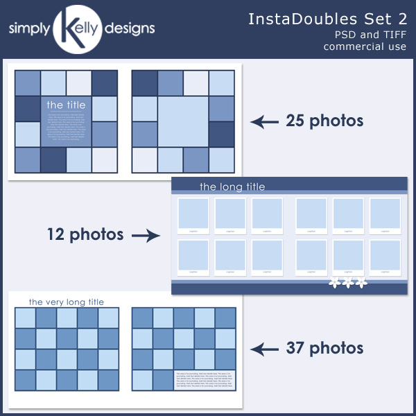 InstaDoubles Template Set by Simply Kelly Designs