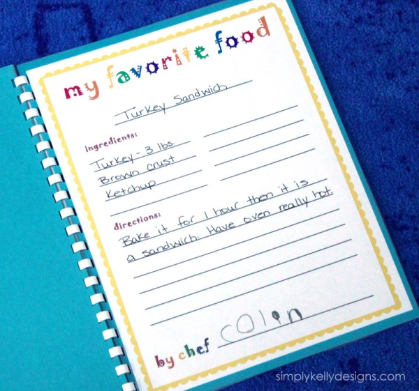 Preschool Recipe Book Printables by Simply Kelly Designs