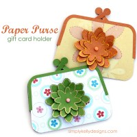 Paper Purse Gift Card Holder by Simply Kelly Designs