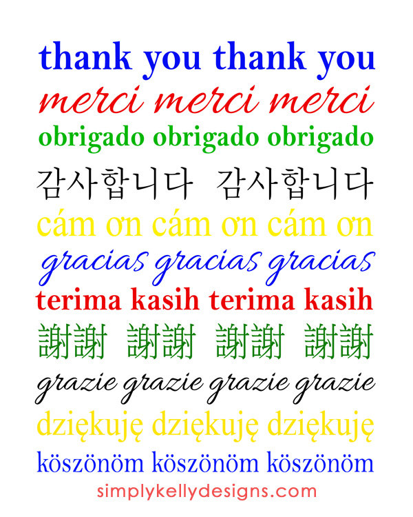 Thank You Printable by Simply Kelly Designs