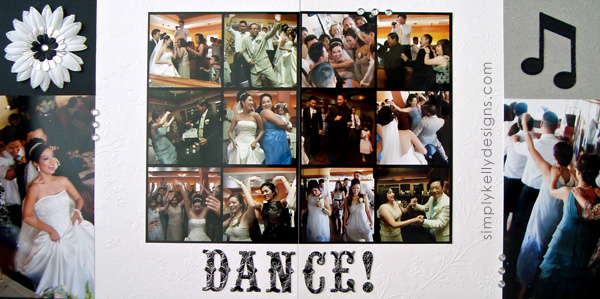 DIY Classic Wedding Scrapbook: Dance by Simply Kelly Designs #wedding #weddingscrapbook #blackandwhite #scrapbooking