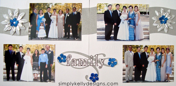 DIY Classic Wedding Scrapbook: Family by Simply Kelly Designs #wedding #weddingscrapbook #blackandwhite #scrapbooking