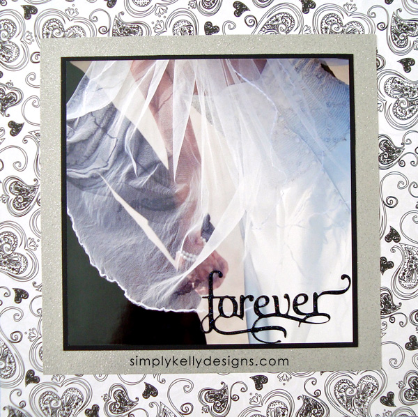 DIY Classic Wedding Scrapbook: Forever by Simply Kelly Designs #wedding #weddingscrapbook #blackandwhite #scrapbooking