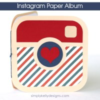 Instagram Paper Album by Simply Kelly Designs #instagram #papercrafting #silhouette