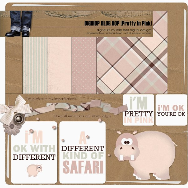 Pretty In Pink Mini Kit by Little Feet Digital Designs