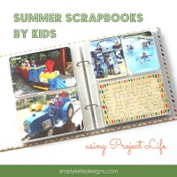 Summer Scrapbooks by Kids Using Project Life