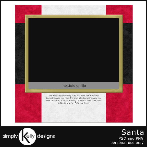 Santa Template by Simply Kelly Designs