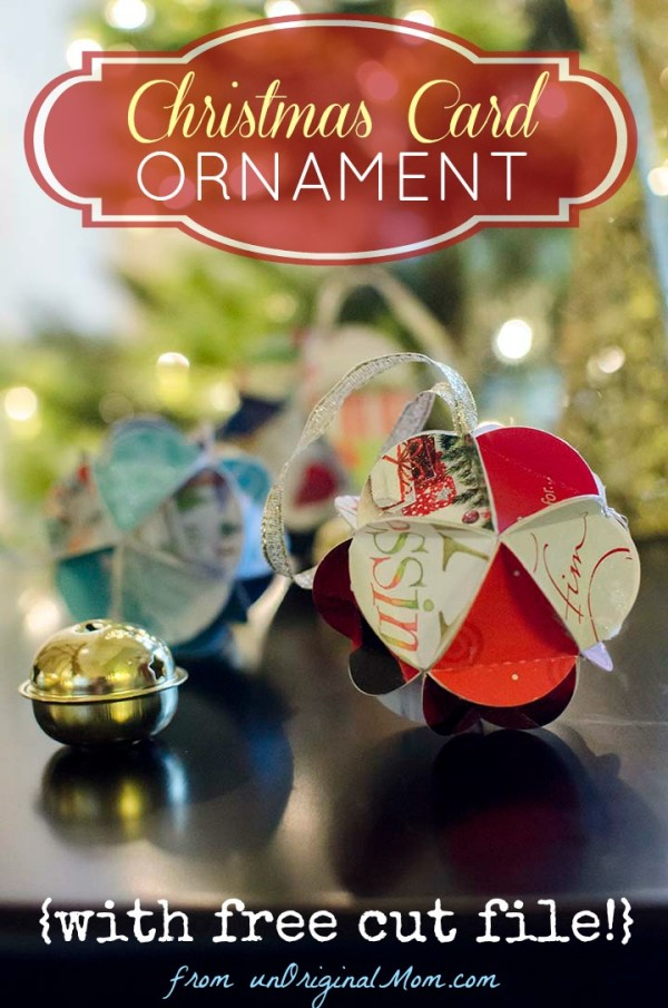 DIY Chrismas Card Ornaments